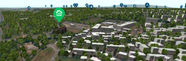 La cartographie 3D avantage pour les acquéreurs de maisons.