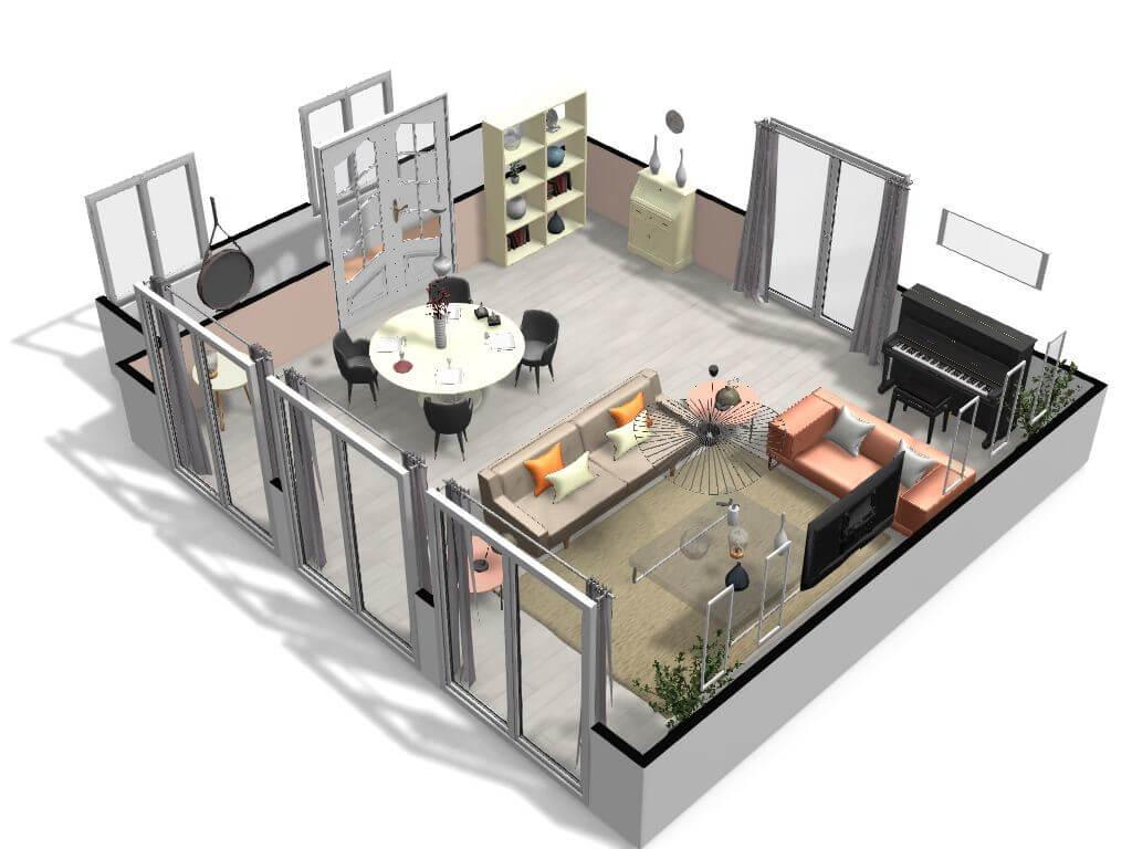 modèle d'un aménagement d'une maison.